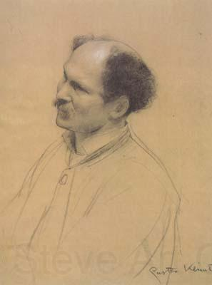 Gustav Klimt Half-Length Portrait with Three-Quarter View of an Older Man,from the Left (ceiling painting at the Burgtheater in Vienna) (mk20)